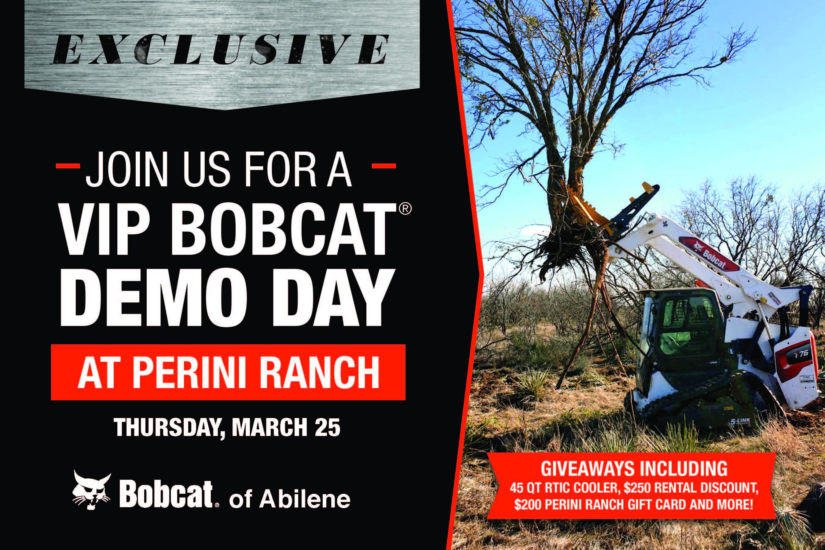 Bobcat of Abilene VIP Demo Day